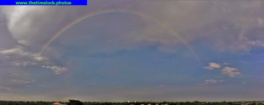 Rainbow captured with a panorama