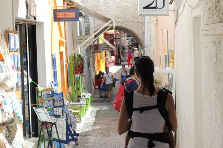 Exploring Local Shops in Fira