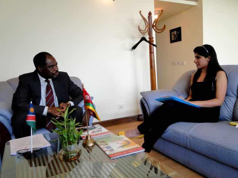 H.E. Dr. Samuel K. Mbambo, Ambassador, Namibia November 8, 2011