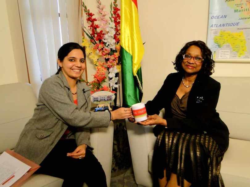 Mrs. Ramatoulaye Bah, SME Minister, Guinea Conakry (GUINEA Embassy) on 30 jan 2013