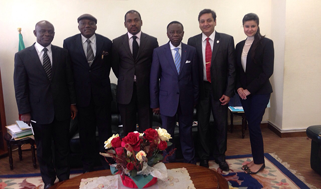 The Hon'ble Minister of Higher Education, Cameroon with TOA