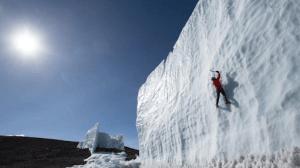 ice depletion on Africa's high peak