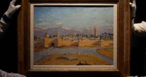 Angelina Jolie sells Churchill's Morrocco painting for a record $9.7 MiL