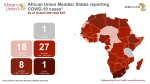Coronavirus: African Union Member States reporting COVID-19 cases as of 10 April 2021