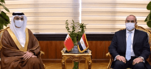 Arab Republic of Egypt Minister of Civil Aviation meets with Ambassador of the Kingdom of Bahrain in Cairo