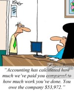 'Accounting has calculated how much we've paid you compared to how much work you've done. You owe the company $53, 972.'