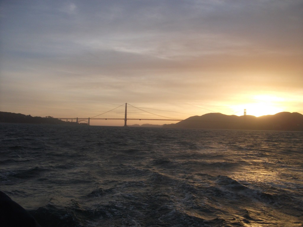 Sun setting on over the San Francisco Bay