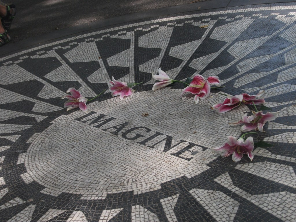 John Lennon Memorial at Strawberry Fields, New York