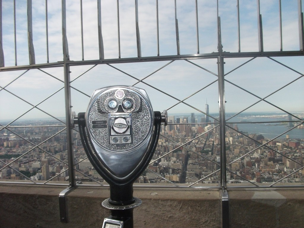 The iconic binoculars on the Empire State Building's Main Deck