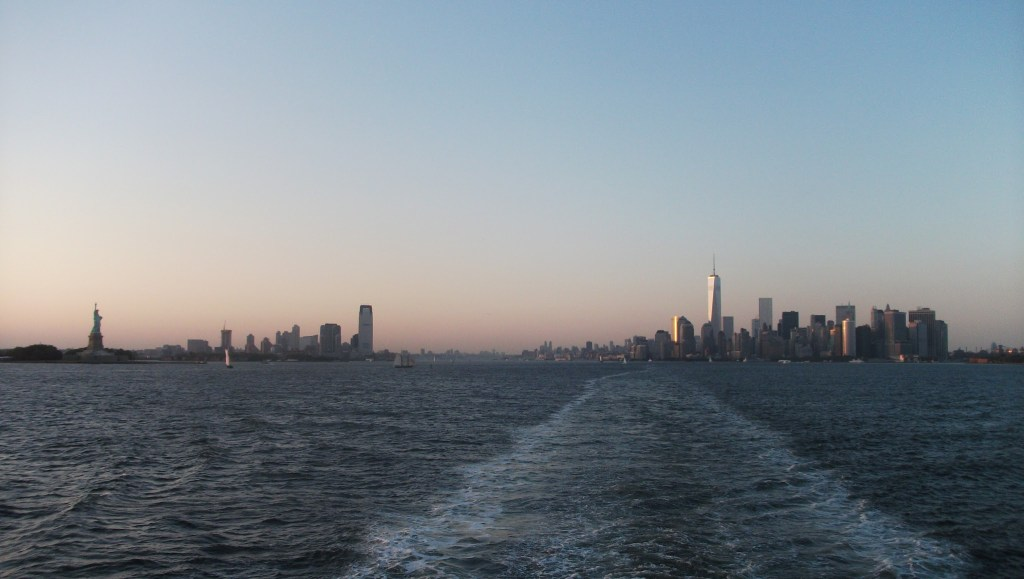 Manhattan as the sun dip over New York