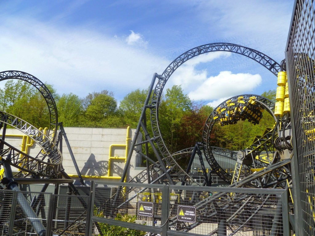 The much anticipated The Smiler roller coaster, Alton Towers