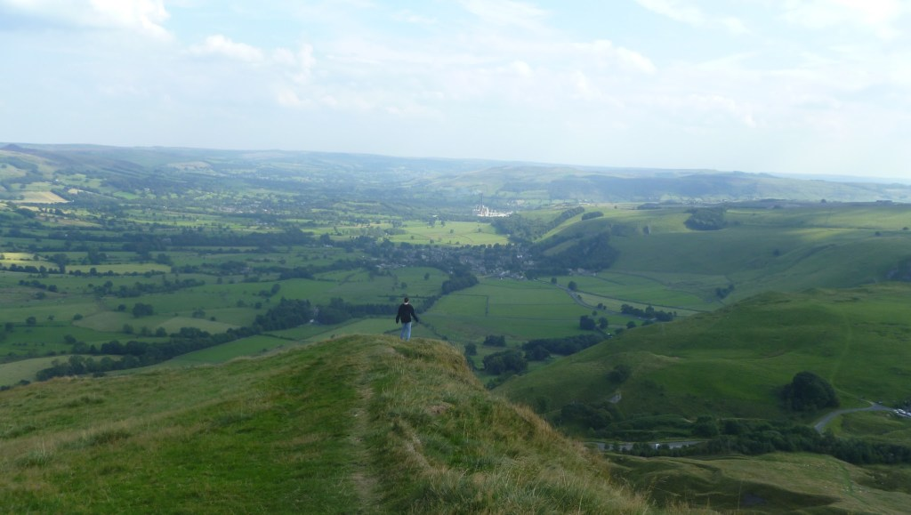 Views from Mam Tor, one of the most popular walks in the Peak District