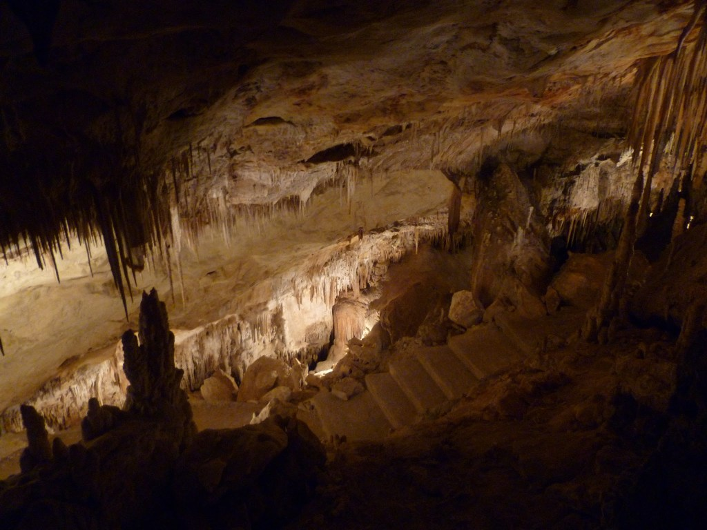 The Eerie rock formations in the Caves of Drach (Cuevas del Drach)