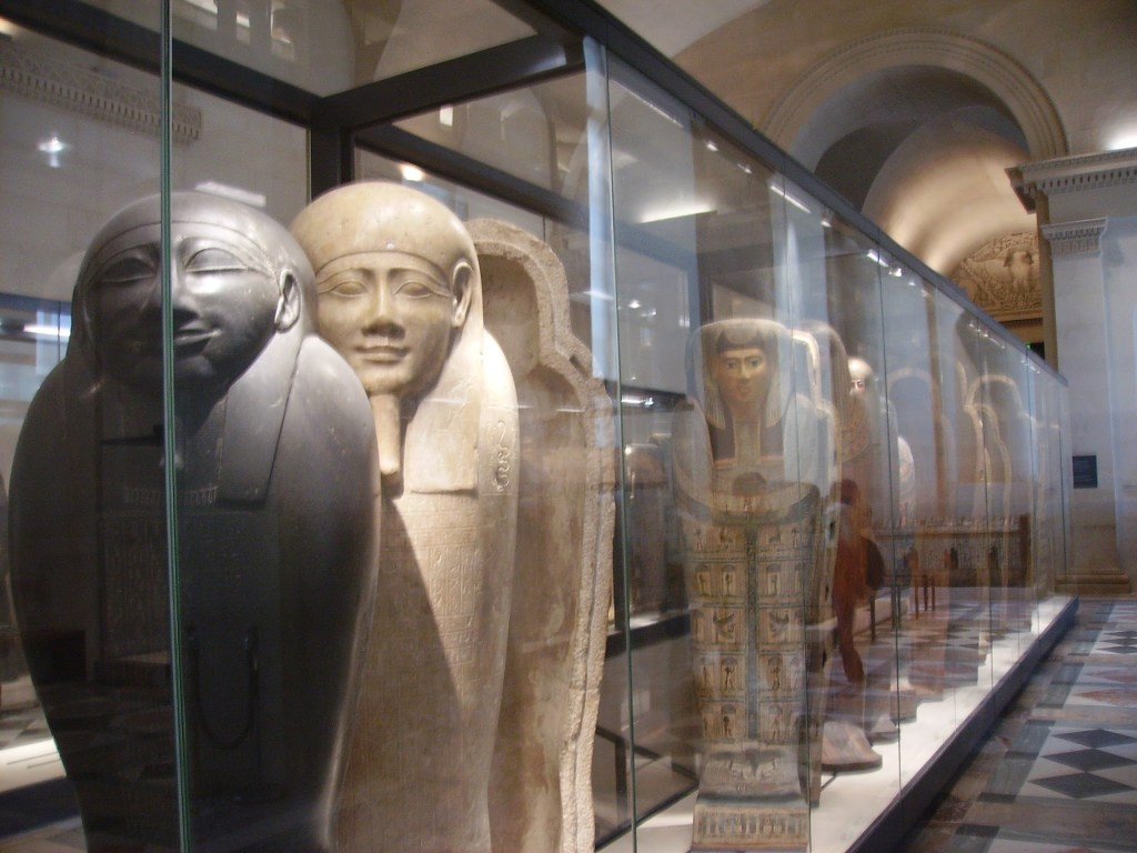 Ancient Egyptian exhibits within the Louvre, Paris