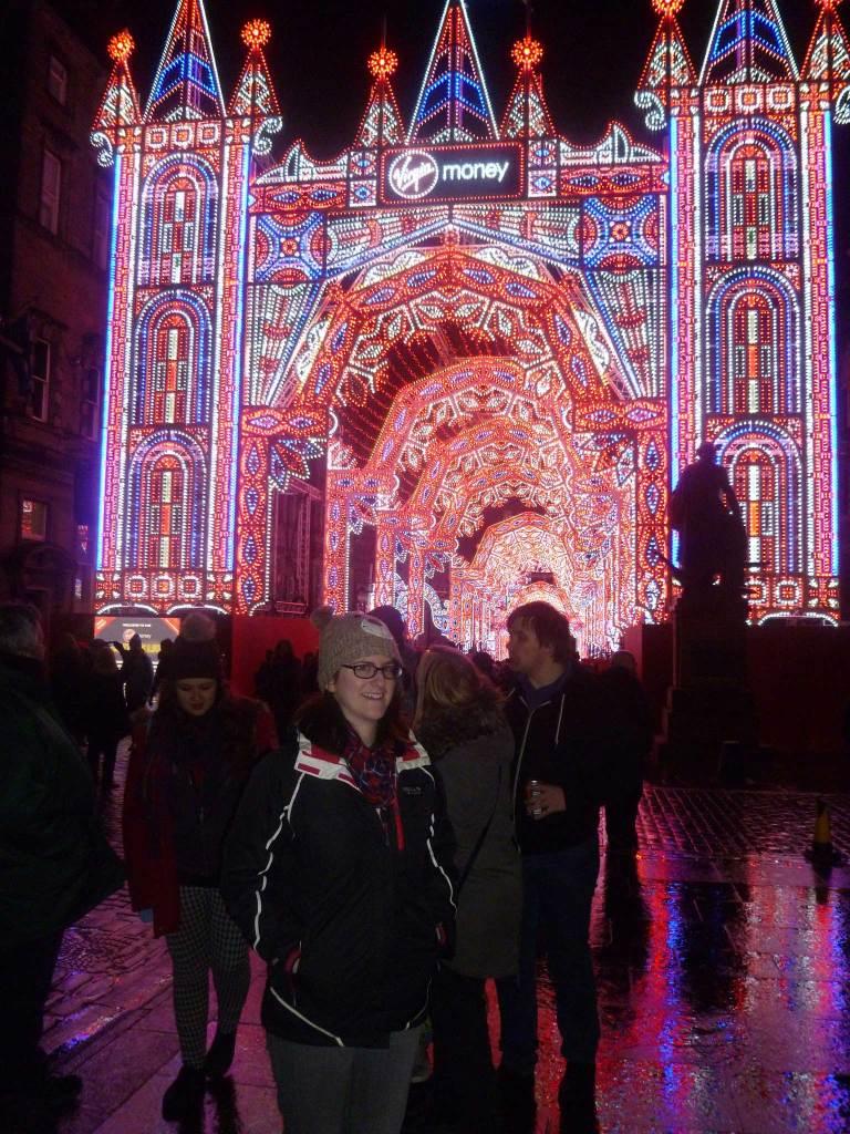 The Virgin Money Edinburgh Street of Light in full colour