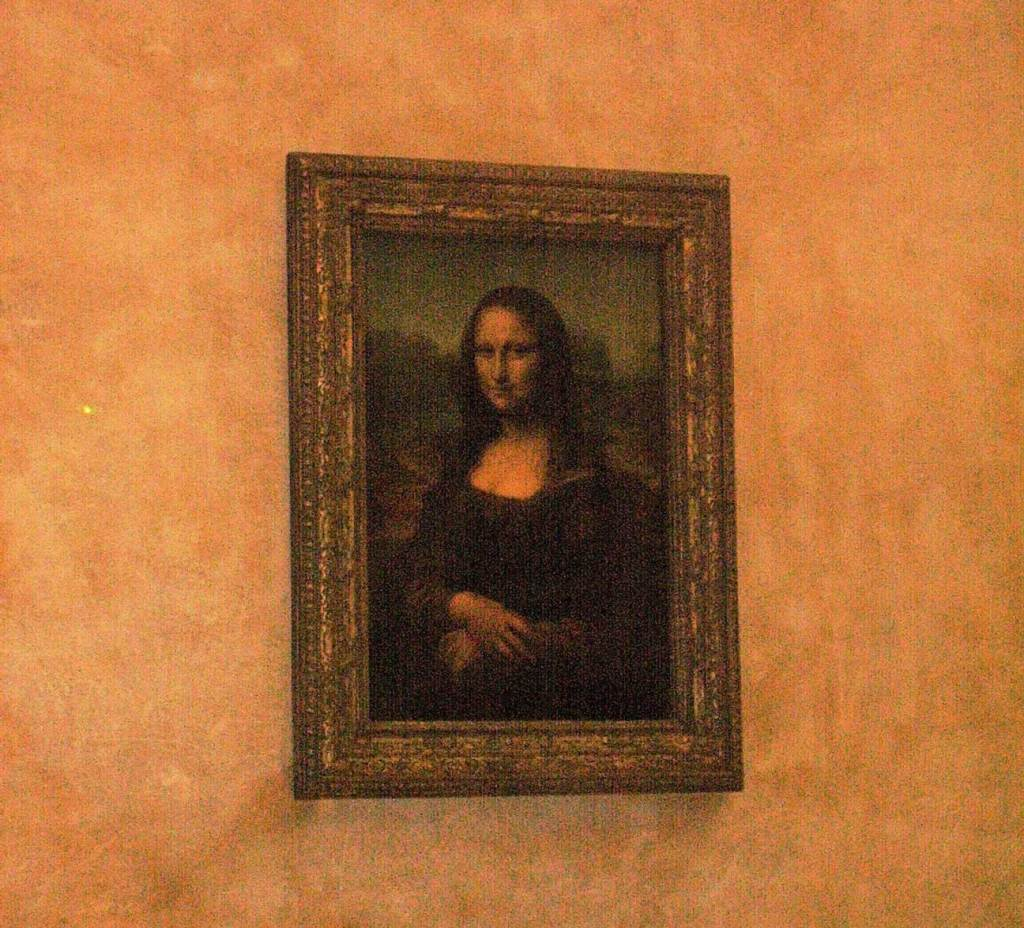 The Mona Lisa in the Louvre, France