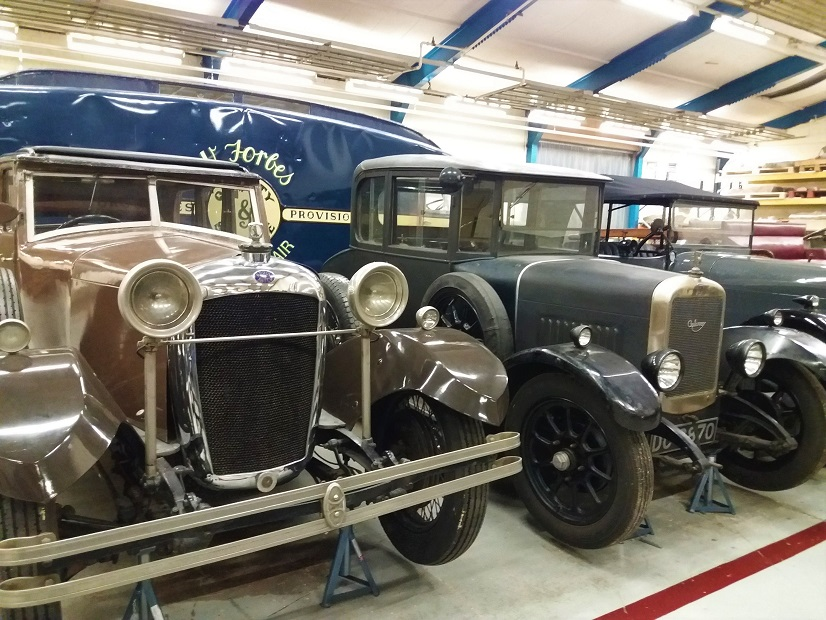 Cars within the Transport Section at the National Museums Collection Centre