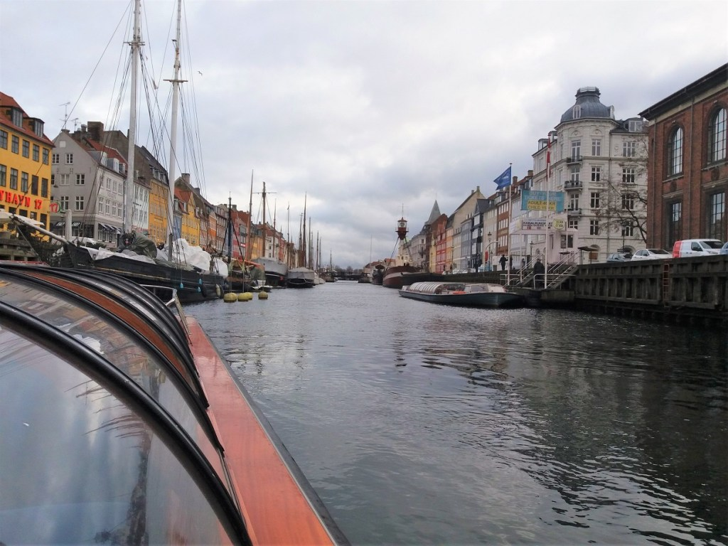 Nyhavn Neighbourhood from Copenhagen Canal Tour Boat