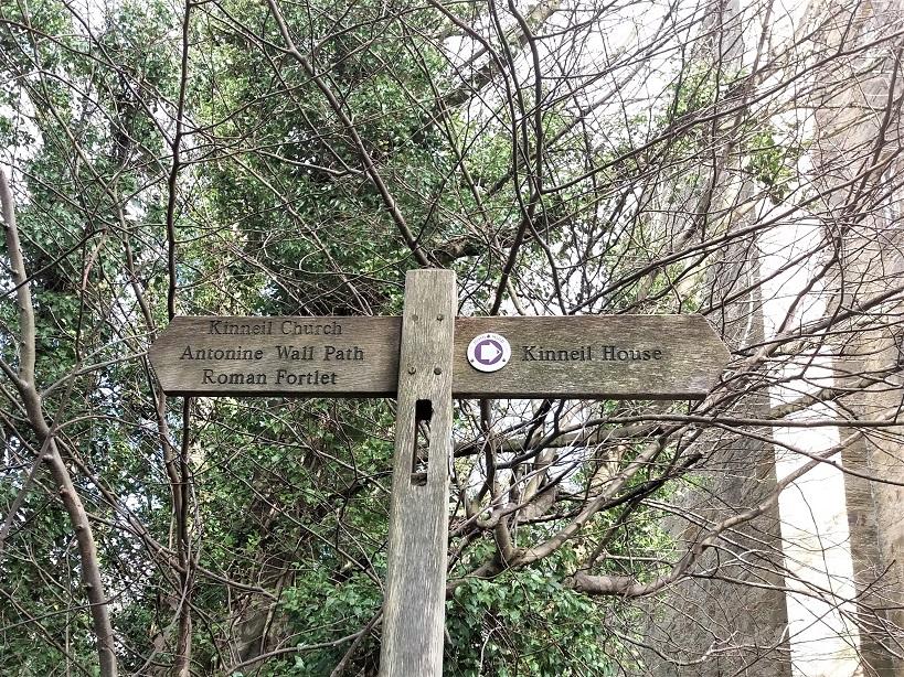 Kinneil Estate Sign