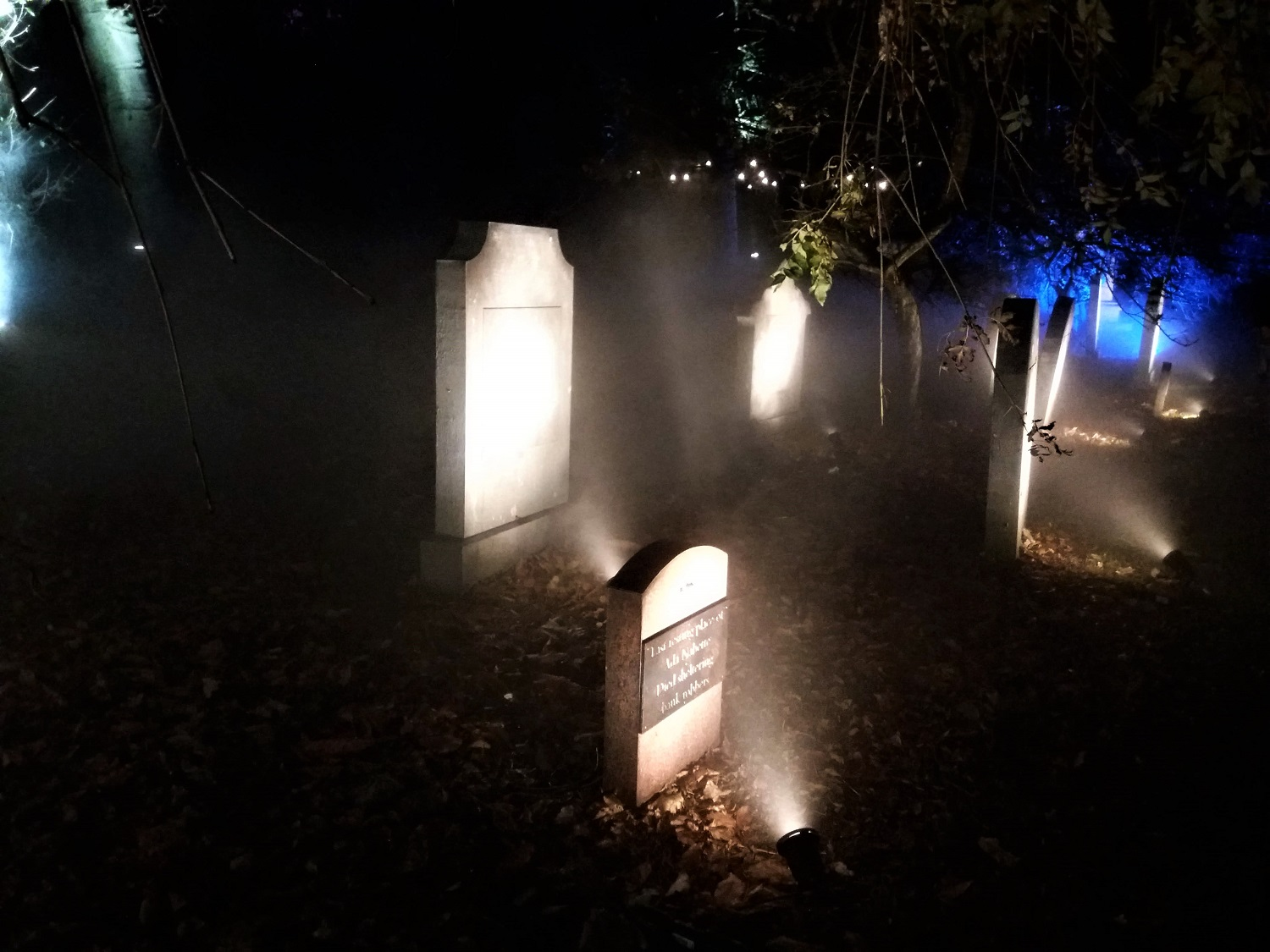 Foggy Cemetery at GlasGLOW