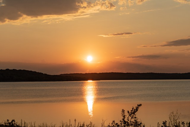 Sunrise over Perry Lake at Perry State Park Kansas