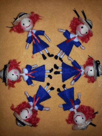 Many Madeline dolls