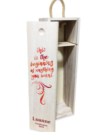 '...Anything You Want' Pull Lid Wine Box