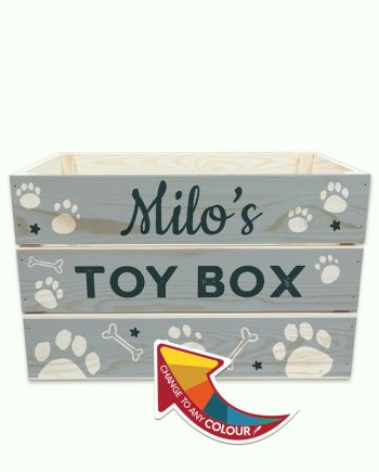 Personalised 490x300mm Dog Toy Crate