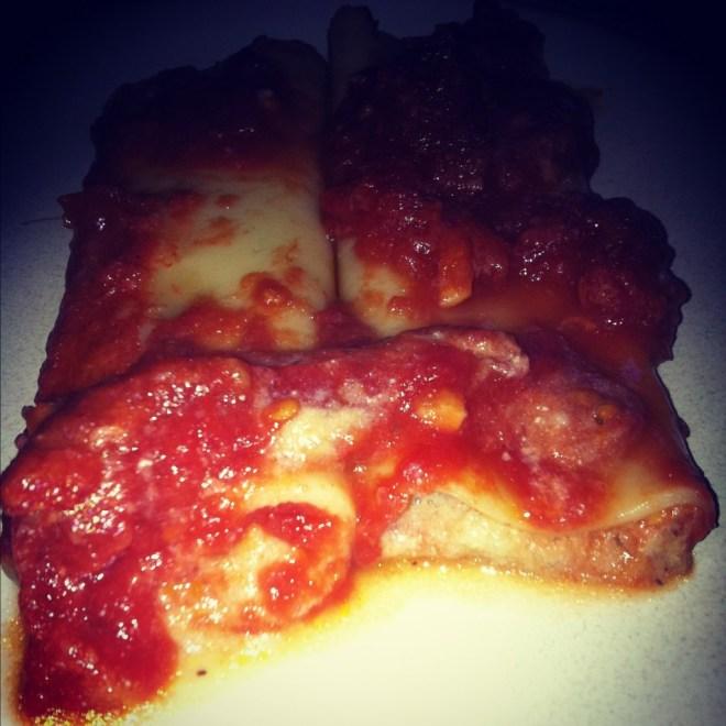 Aubergine & Ricotta stuffed cannelloni