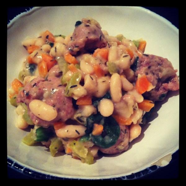 Cannellini Bean & Italian sausage stew