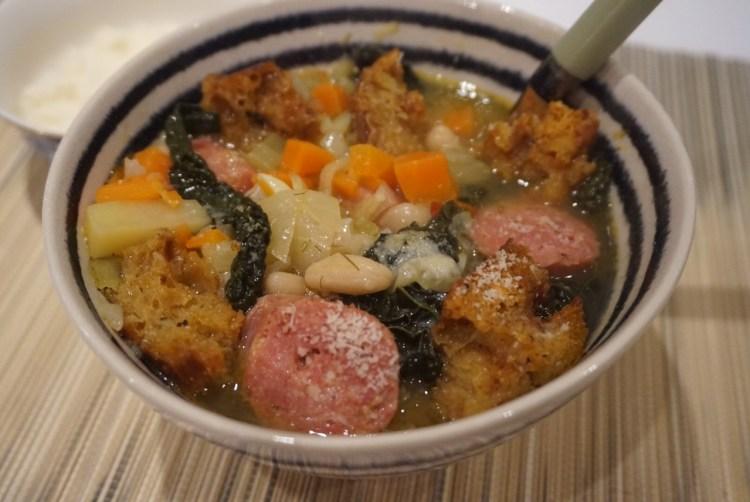 ribollita-tuscan bean soup