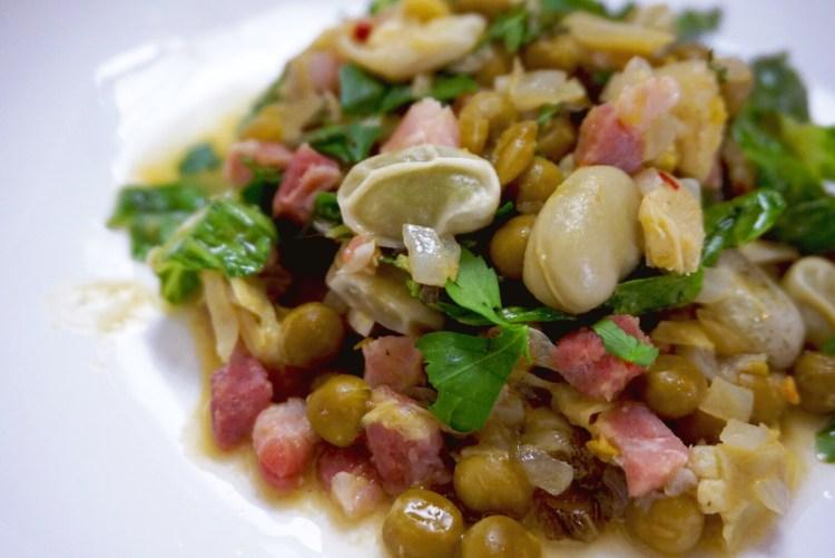 Vignarola - Roman Artichoke, Broad Bean and Pea stew
