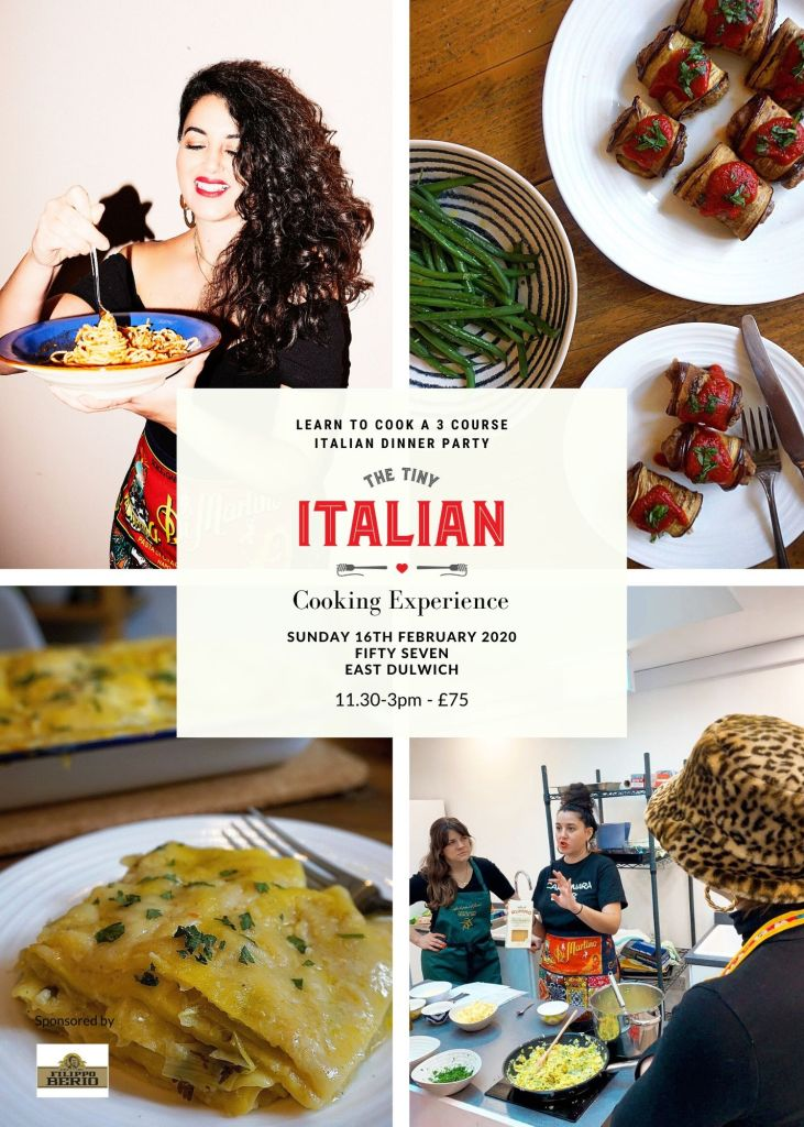 Italian Cooking Class Learn To Cook An Italian Dinner Party 16th Feb 20 The Tiny Italian