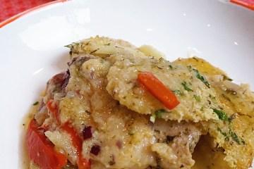 Italian chicken and potato bake