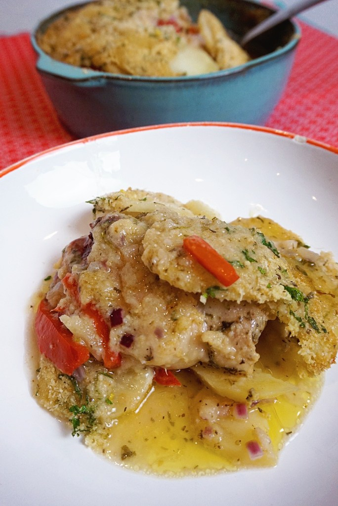 Italienischer Hühnchen-Kartoffel-Auflauf
