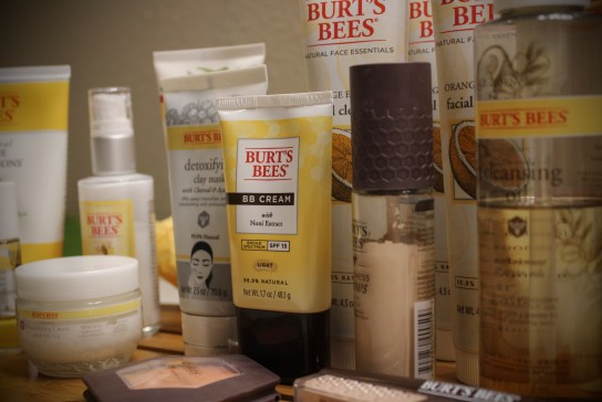 makeup and burt's bees products I use