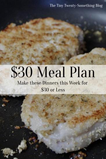 $30 Meal Plan