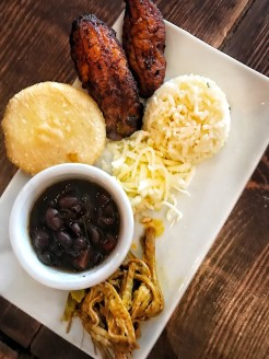 The traditional meal of Venezuela, called Pabellon