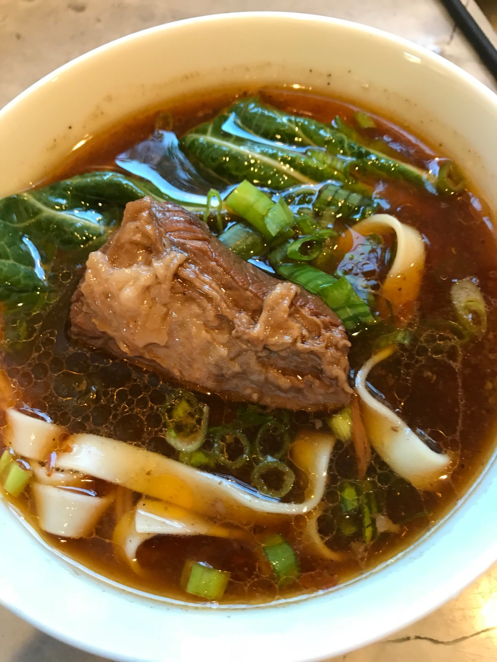 A family recipe using fork tender beef, noodles in an Asian broth.