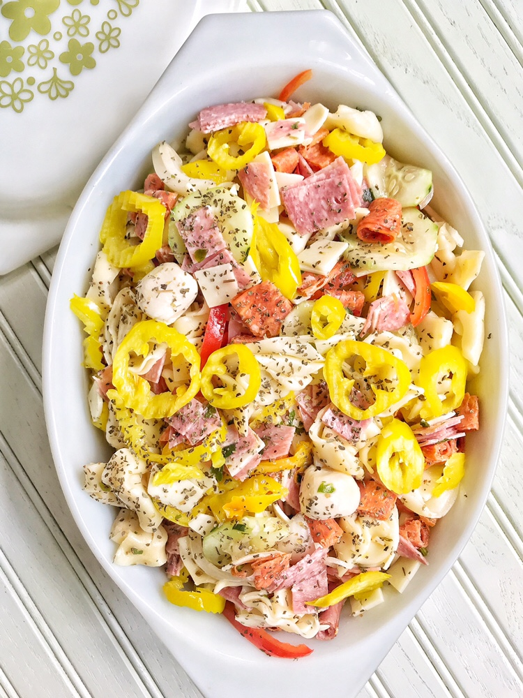 Italian Sub Tortellini Salad
