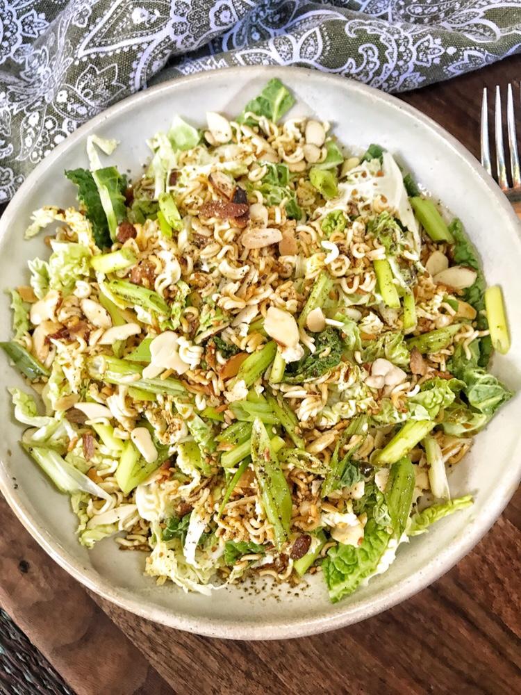 Crispy Ramen Noodles, Napa Cabbage, Soy Sauce, Salad