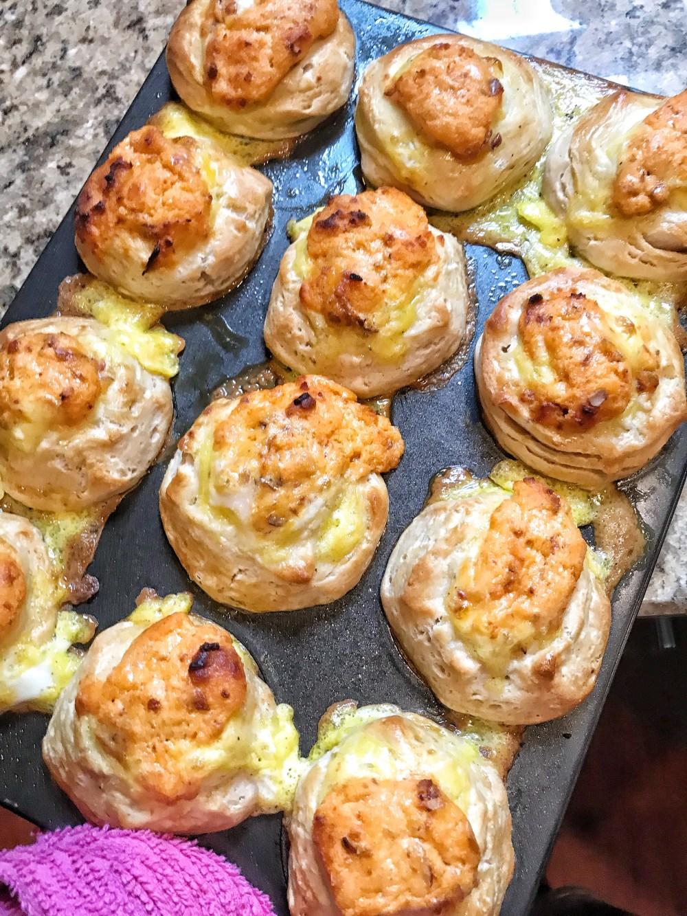 Cheddar Egg Biscuits