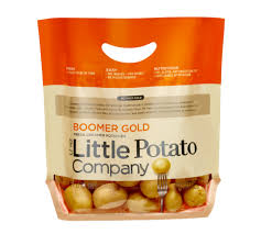 a bag of baby potatoes in their packaging