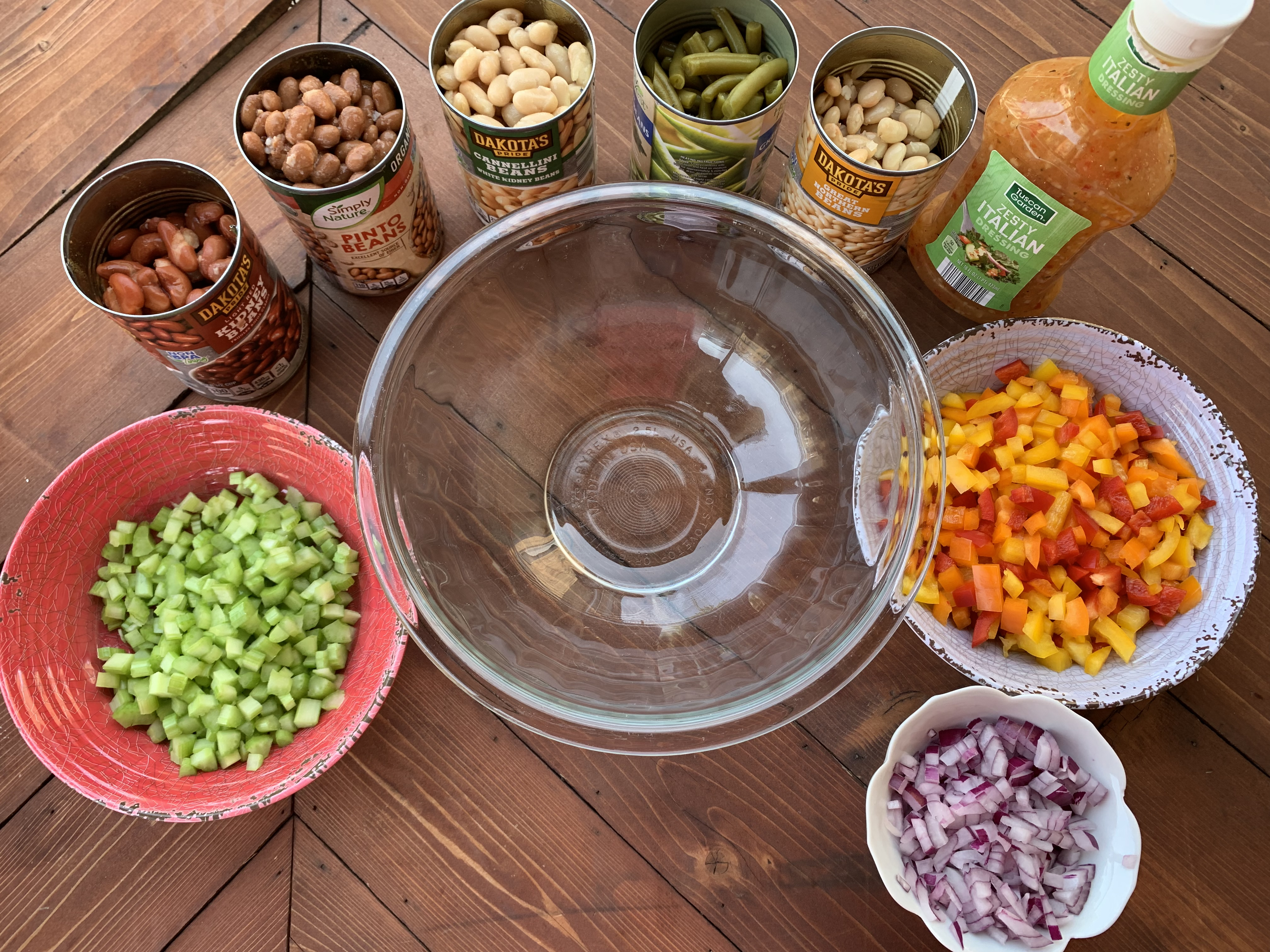 A picture of all the ingredients for the recipe