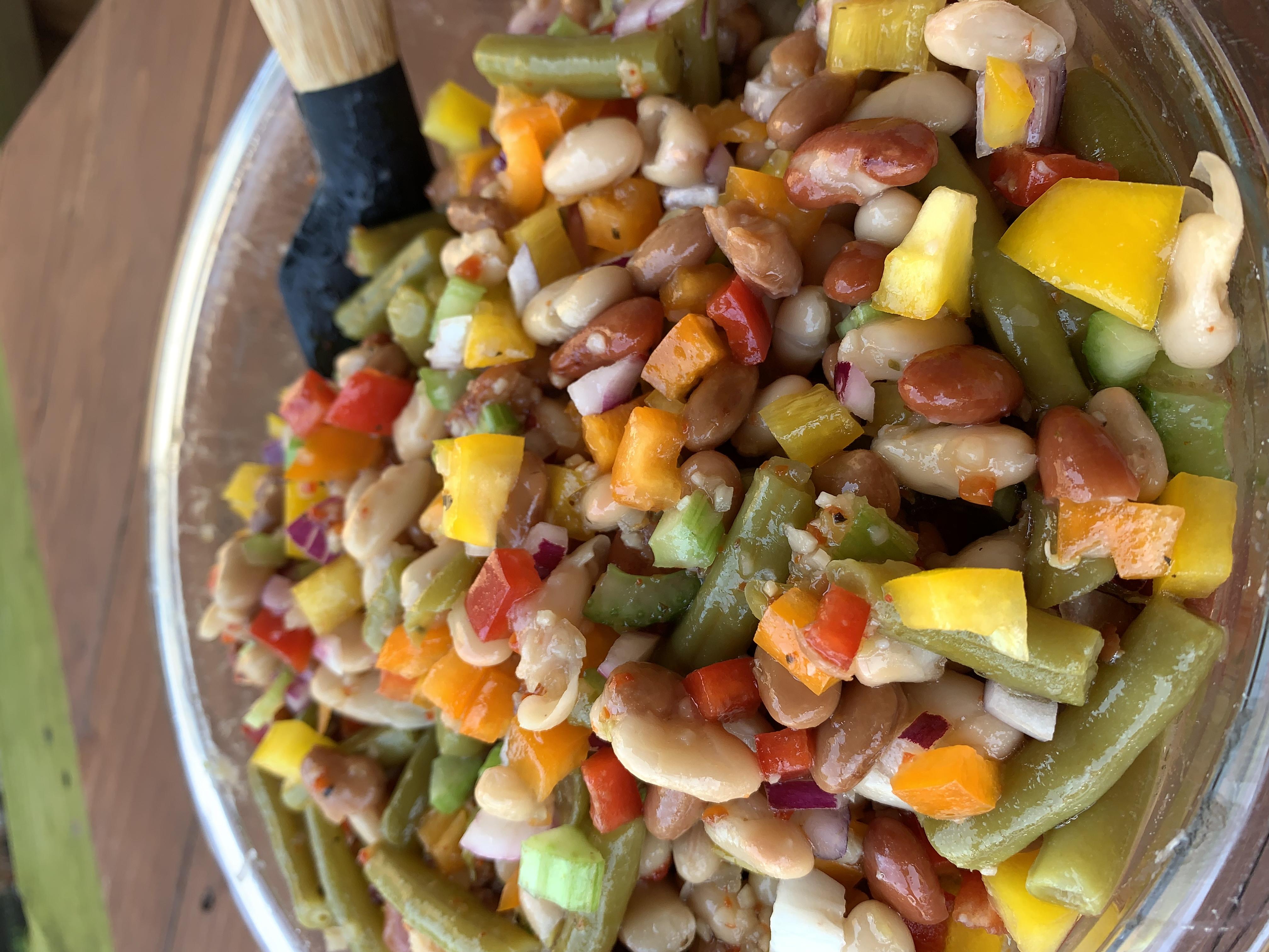 Bowl of bean salad