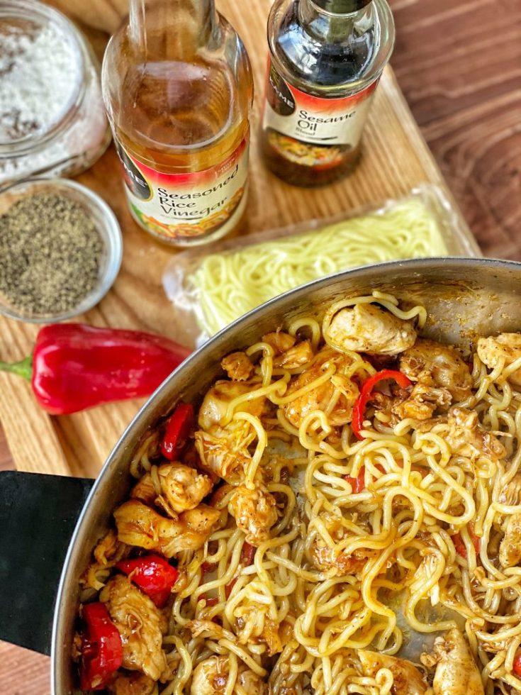 Spicy Chicken & Stir Fry Noodles