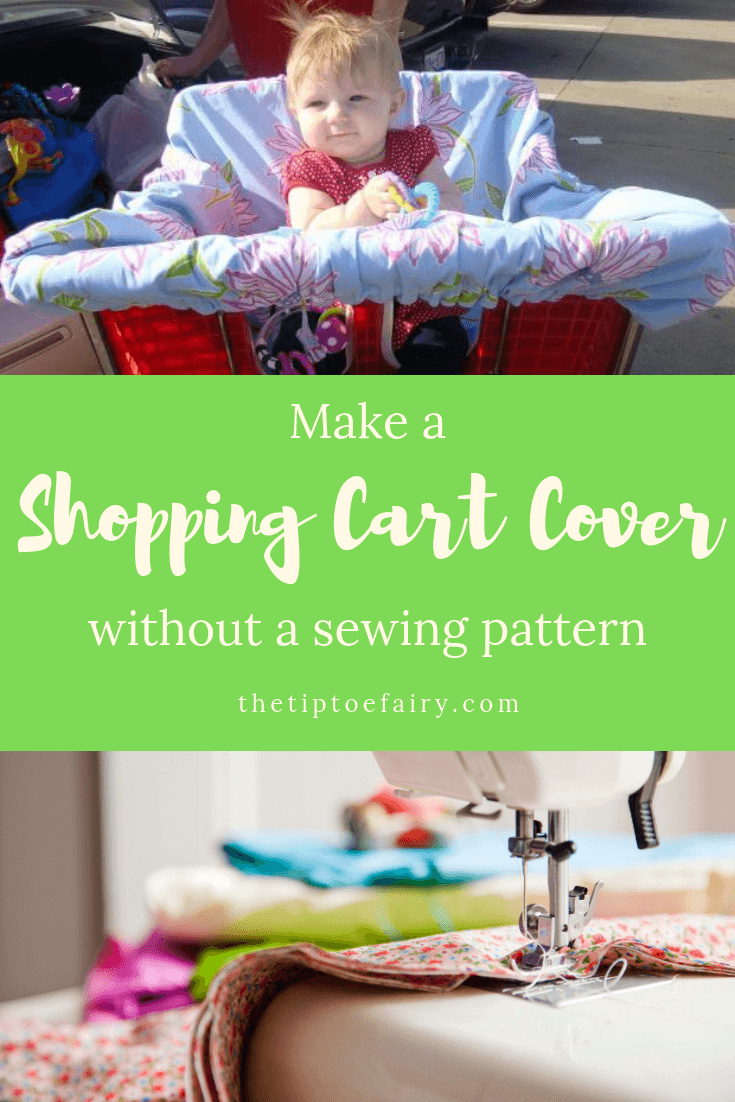 Keep those icky germs away! Make your baby a Shopping Cart Cover without using a sewing pattern.