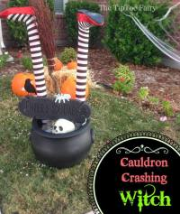 Halloween Outdoor Decorations: It's a Witch Crashing ...