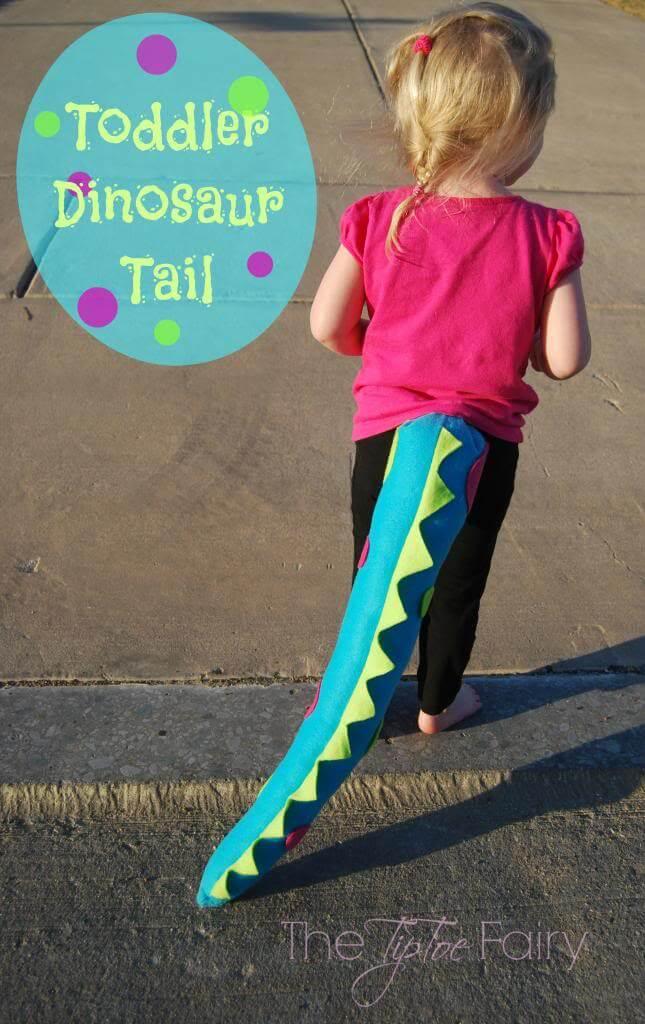 make toddler dino tails