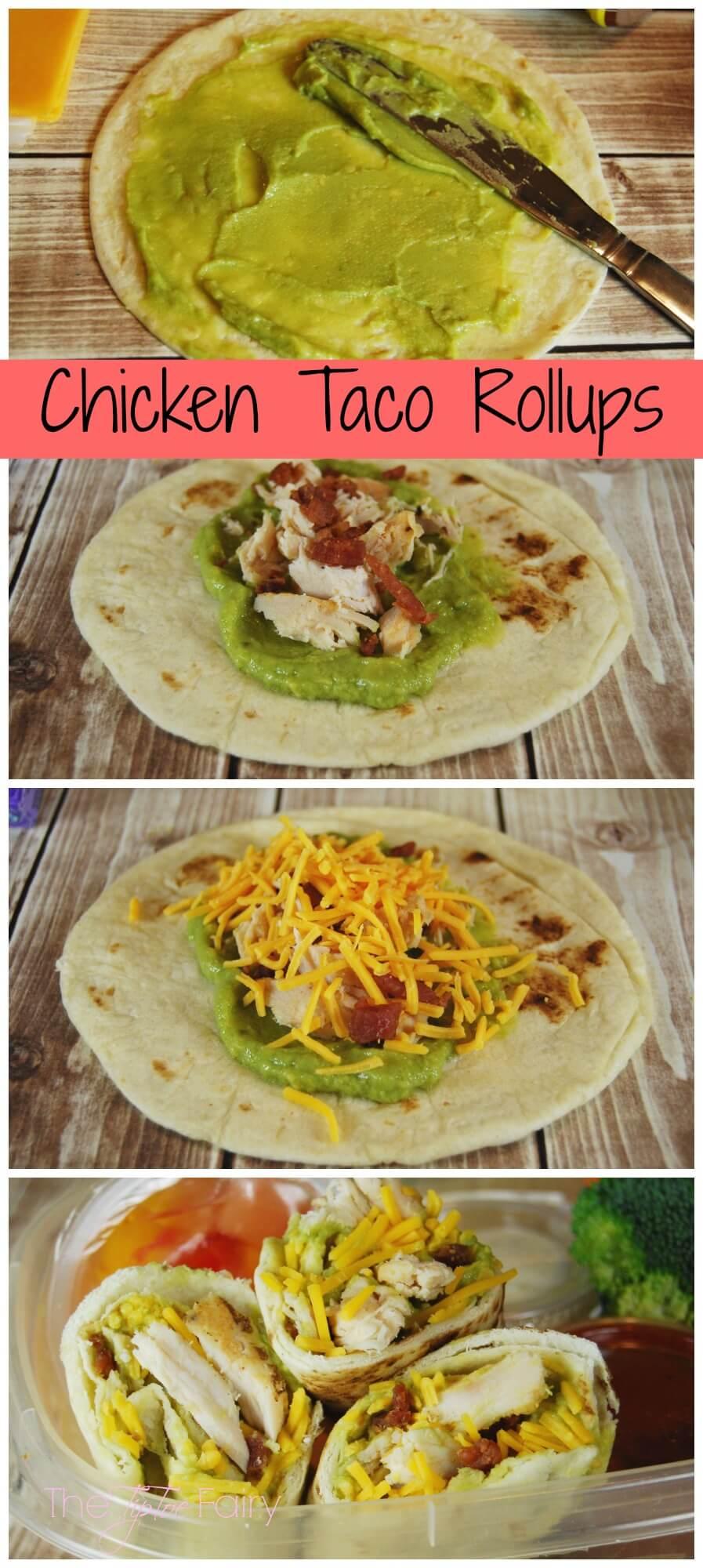 Lunch Box Ideas - Chicken Taco Roll Ups | The TipToe Fairy #MyGoodLife #shop #chickenrecipes #lunchboxideas #lunchideas